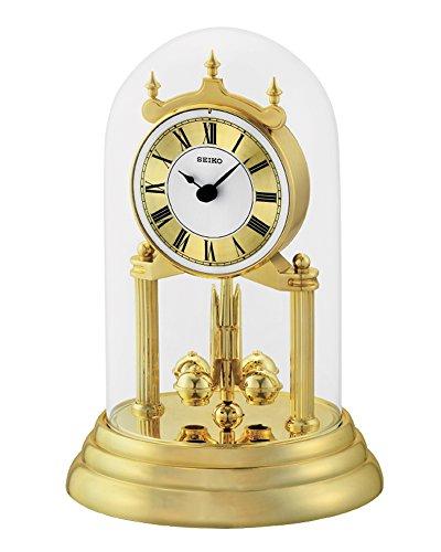 Seiko Jahrestag Uhr mit rotierenden Pendel, Gold, 28x 18x 19cm (Gold-pendel-uhr)