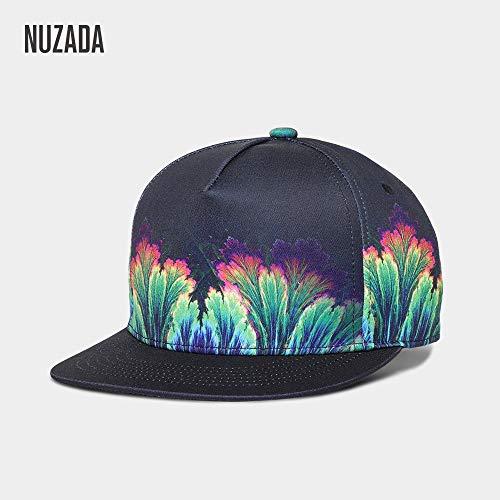 JJZZ Baseball cap Flache Hutmode Baseballmütze Männer Und Frauen Mit Dem Gleichen Bedruckten Hut