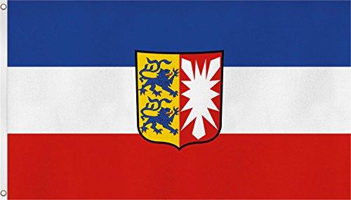Fahne mit Messingösen 90 x 150, 150 x 250 oder 300 x 500 cm wählbar Farbe Schleswig Holstein Größe 90 x 150
