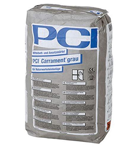 PCI CARRAMENT Mittelbett- und Ansetzmörtel Grau 25 kg - Zum Verlegen von unkalibrierten Naturwerksteinplatten