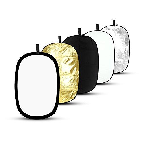 ESDDI 5 in 1 Faltreflektoren Set Reflektor Oval 60 x 90cm f¨¹r Studio- und Outdoorfotografie