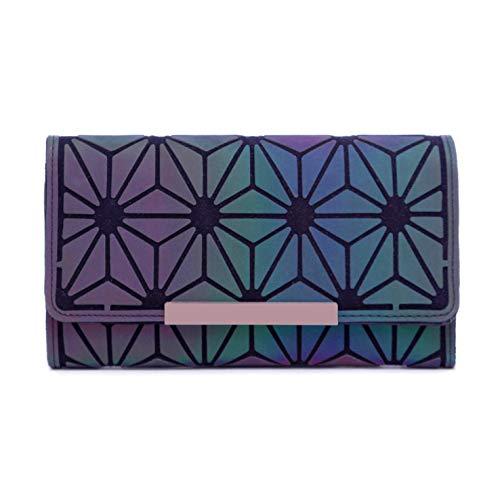 e77af332869a53 Geometrische Lange Brieftasche und Geldbörse - Mode Leuchtend Trifold  Gitter Geldbörse Brieftaschen für Damen ...