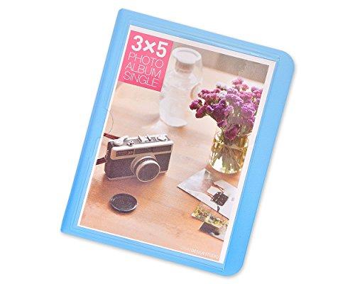 DSstyles Fotoalbum 32 Pockets Foto Buch Mini Album Buch für Fujifilm Instax Wide 300, Wide 210, Wide 200 Fotos - Blau - Polaroid 32