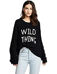 Wildfox Wild Thing Newell Sweater In Black