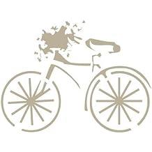 Stencil Mini Deco Vintage Figura 048 Bicicleta. Medidas aproximadas: Medida exterior del stencil:
