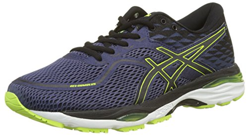 ASICS Gel-Cumulus 19, Scarpe Running Uomo, Blu (Indigo Blue/Black/Safety Yellow 4990), 40 EU