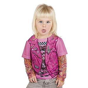 Limit Sport - Camiseta con tatuajes en las mangas para chica (NC490)