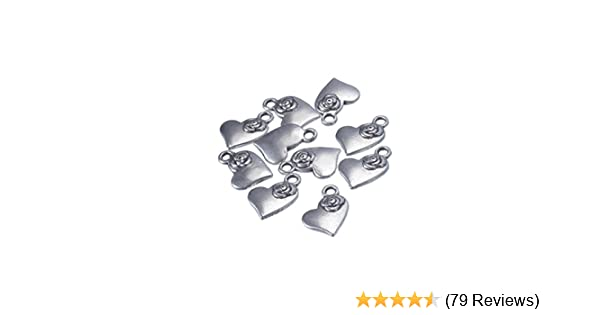 10g Tibetan Silver Colour Love Charm Approx 30pcs