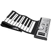 agptek clavier souple 61 touches 128 sons souple pliable portable electrique digital retrousse piano clavier