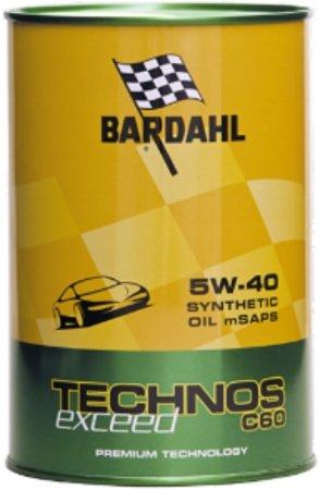 BARDAHL Technos C60 Exceed 5W40 m-SAPS Olio Lubrificanti Motore Auto Diesel e Benzina 1 LT