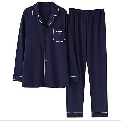 Zybnb Pyjamas Damen Frühling und Herbst Baumwolle Langärmeligen Einfachen Hosenanzug Casual Home Service Kann Draußen Getragen Werden M