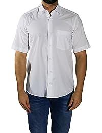 MUGA Homme Chemise à manches court, légèrement cintrée
