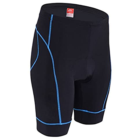 ALLY Men's 3D Professional Moulded Anti-Bac Padding Cycling Shorts with High Air Permeability- M/L/XL/XXL/XXXL Optional