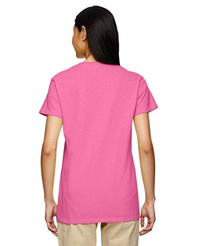 GILDAN Damen T-Shirt Fuchsia