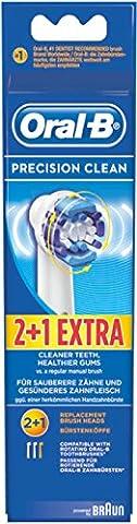 Oral B Precision Clean 3Bürstenköpfe X 6Packungen = 18Köpfe (passt nicht Sonic & Pulsonic