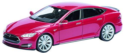 Preisvergleich Produktbild Schuco 450897000 - Tesla Model S, Masstab 1:43, Auto Und Verkehrsmodell, Rot