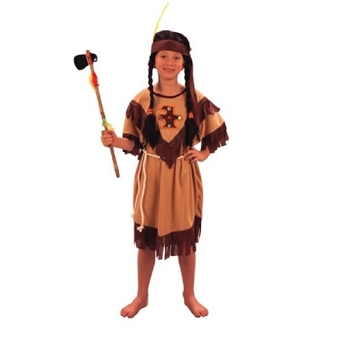Fyasa 701297-t01indiano costume da ragazza, marrone chiaro, misura media