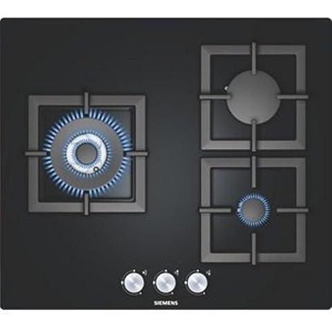 Siemens EP616CB21E hobs - Placa (Incorporado, Gas, Vidrio, Giratorio, 1m, 220 - 240V) Negro