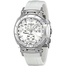 Tissot Tissot T-Race Chronograph White Rubber Strap Ladies Watch t0482171701700
