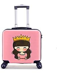YCYHMYF Maleta de Viaje 19 Pulgadas embarque Viaje niños Trolley Maleta niña