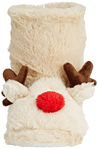 Spot On Reindeer Bootie, Chaussons à doublure chaude femme - Off White (Cream)