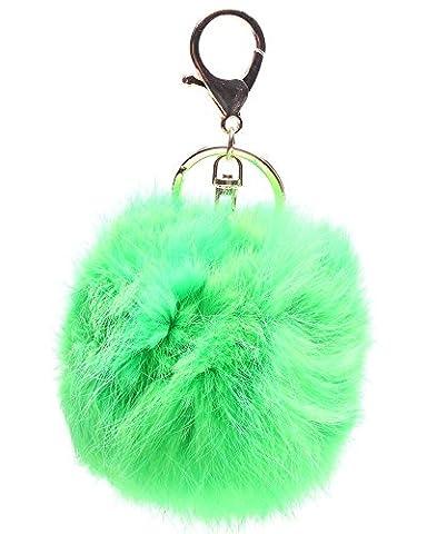 zeuxs Plüsch Ball Tasche Anhänger Auto Key Ring KFZ Schlüssel Kette, grün, same