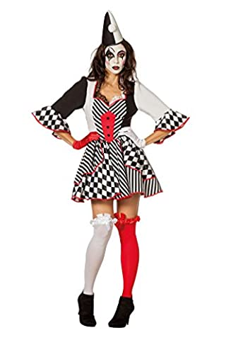 Karneval Klamotten' Kostüm Pierrot Clown Dame Karneval Zirkus Damenkostüm Größe 42