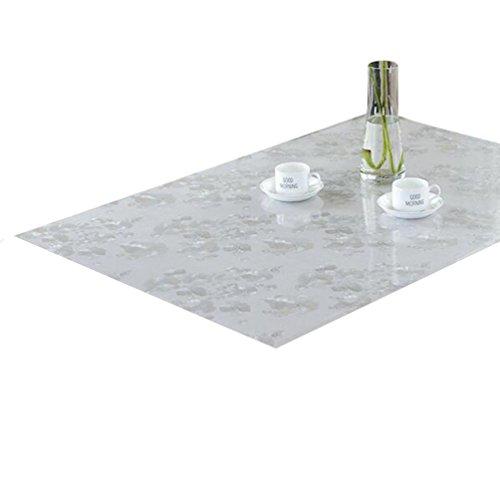 Zkoo vetro morbido protettiva tavolo pvc moderno stampa pellicola copertura protettiva tovaglia impermeabile facile da pulire