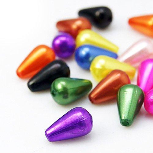 Pacco 100+ Misto Acrilico 6 x 10mm Briolette Liscio Perline - (HA25070) - Charming Beads