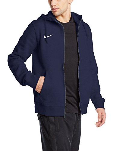 Nike, Felpa Uomo con cappuccio e cerniera Team Club Obsidian Taglia L