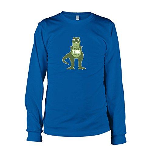 TEXLAB - Dino I love You - Langarm T-Shirt, Herren, Größe L, (Lebensgroße T Rex Kostüm)
