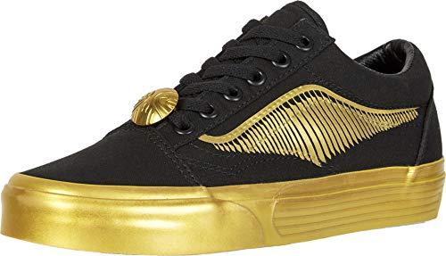 Vans Harry Potter Old Skool - Zapatillas Bajas para Hombre, Color Negro y Dorado, Color Negro, Talla 42 EU