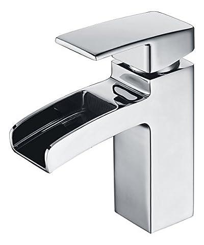 Crea Centerset einzigen Griff Waschbecken Wasserhahn Wasserfall Mischbatterie,