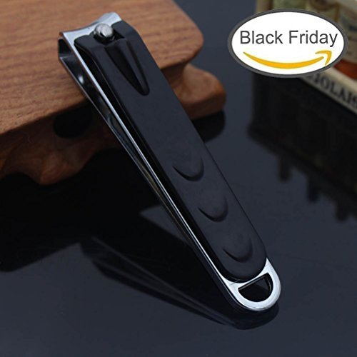 Liangery Professioneller Fingernagel-/ Zehennagelknipser großer Nagelknipser für Männer und Frauen 9cm (schwarz)