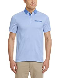 Blackberrys Mens Polo (8907196435505_TSADE-PNYBM16BTX40_40_Air Blue)