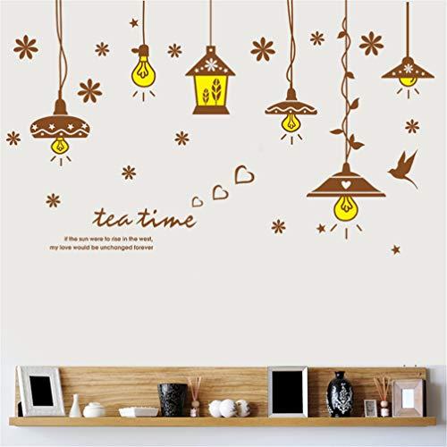 JKJND Kreative Kronleuchter Gemütliche Herberge Europäische Dekorative Aufkleber Wand Raum Schlafzimmer Glühbirne Leuchtet Leben -
