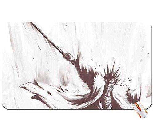 Anime bleach zaraki kenpachi 1280x 800wallpaper big mouse pad computer mousepad dimensions: 23.6x 13.8x 0.2