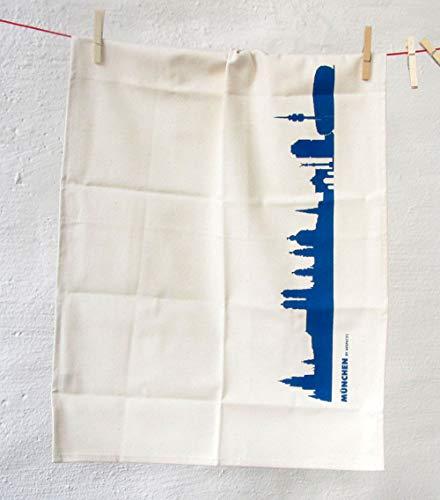 Torchon Munich en coton bio - Coloris différents - City Towel de 44spaces bleu