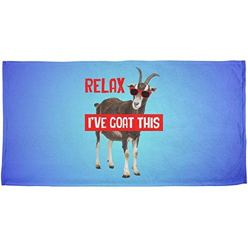 Entspanne ich mich habe Ziege dieser lustig All Over Strand Handtuch Multi Standard Einheitsgröße