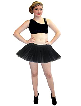 Neon-UV 3 Layers Skirt-Free Size (Fits 6-14) (Black)