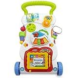 عربة ولعبة للاطفال الصغار متعددة الوظائف - مضادة للتدحرج مع ستاند تعليمي بموسيقى