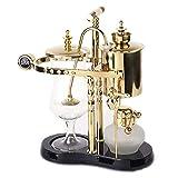Royal Belgian Kaffee Maschine Balance Siphon Holzsockel Leicht Zu Reinigen Nehmen Permanentfilter Edelstahl Luxuriöse Königliche Familie Maschinen (Gold),Classic7gold
