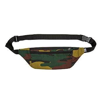 PP-BERLIN Bauchtasche Camouflage flach | handgemacht & vegan | Militär Gürteltasche klein | Army Hip Bag | Fanny Pack | Hüfttasche Damen & Herren