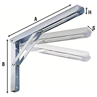 2534IN Stainless Steel 3 Position Folding Shelf - 40mm