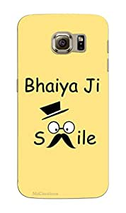 MiiCreations 3D Printed Back Cover for Samsung Galaxy S6,Bhaiya Ji Smile