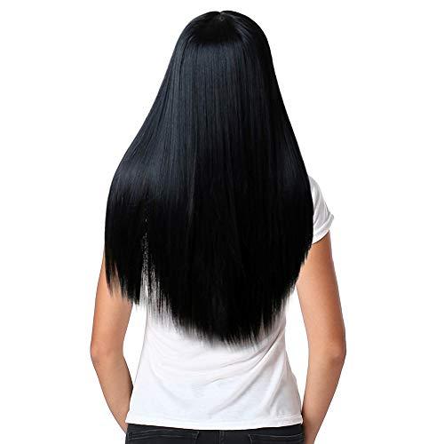 Malloom synthetische Haar-vordere Spitzefrontseite Perücke Kostüm natürliche schauende beste preiswerte Perücken Frauen lange gerade synthetische Haar-volle Perücken Cosplay natürliche ()
