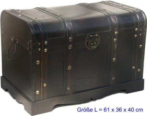 Made for us Holz-Truhe Schatz-Kiste Piraten-Truhe Geld-Truhe für Jubiläum Hochzeit Aussteuer braun 61 x 36 x 40 cm original (Schatz-truhe-aufbewahrungsbox)