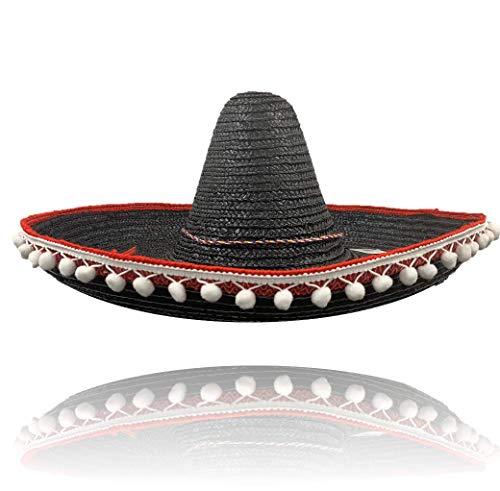 SOMBRERO Messicano Western BANDIT Costume Paglia Cappello Costume Accessorio Stag Do