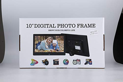 Yukiko Digital Picture Frame with Wireless Remote 10 Inch Screen Built-in Speaker
