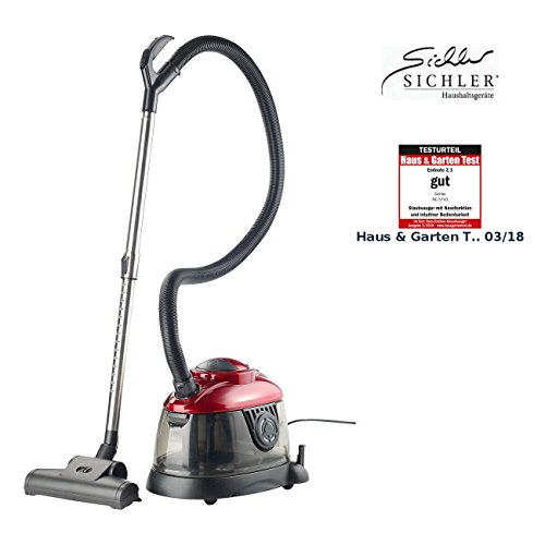 Sichler Haushaltsgeräte Nasssauger: Kompakter Nass- & Trockensauger BLS-250, 1.200 Watt (Wasserstaubsauger)
